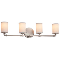 Textile 4 Light 34 inch Brushed Nickel Bath Bar Wall Light