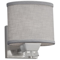 Justice Design FAB-8471-30-GRAY-NCKL Textile 1 Light 7 inch Brushed Nickel Wall Sconce Wall Light, Oval
