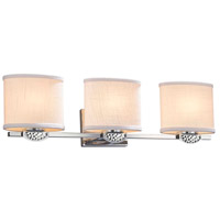 Justice Design FAB-8493-30-CREM-CROM Textile Malleo 3 Light 25 inch Polished Chrome Bath Bar Wall Light