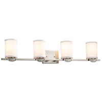 Textile Malleo 4 Light 33 inch Brushed Nickel Bath Bar Wall Light