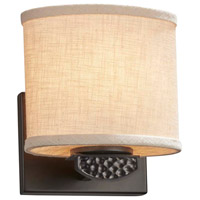 Justice Design FAB-8497-30-CREM-CROM Textile Malleo 1 Light 7 inch Polished Chrome ADA Wall Sconce Wall Light