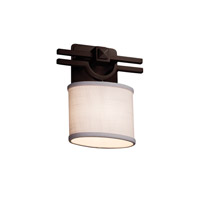 Justice Design Group Textile LED Wall Sconce in Dark Bronze FAB-8507-30-WHTE-DBRZ-LED1-700