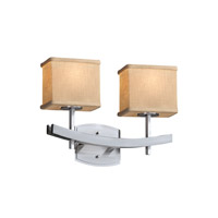 Justice Design Group Textile 2 Light Vanity Light in Brushed Nickel FAB-8592-55-CREM-NCKL