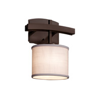 Textile LED 9 inch Dark Bronze ADA Wall Sconce Wall Light in White, 700 Lm 1 Light LED, Oval
