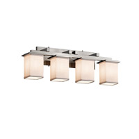 Textile LED 29 inch Brushed Nickel Vanity Light Wall Light in 2800 Lm 4 Light LED, White
