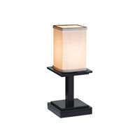 Justice Design Group Textile 1 Light Table Lamp in Matte Black FAB-8698-15-CREM-MBLK
