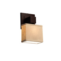 Textile LED 6 inch Dark Bronze ADA Wall Sconce Wall Light in Rectangle, 700 Lm 1 Light LED, Cream (CandleAria)