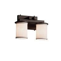 Textile LED 13 inch Dark Bronze Vanity Light Wall Light in 1400 Lm 2 Light LED, White