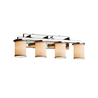 Justice Design Group Textile LED Vanity Light in Polished Chrome FAB-8774-10-CREM-CROM-LED4-2800