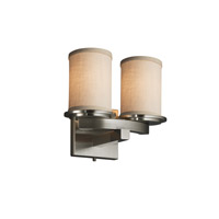 Justice Design Group Textile LED Wall Sconce in Brushed Nickel FAB-8775-10-CREM-NCKL-LED2-1400