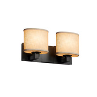 Justice Design Group Textile LED Vanity Light in Matte Black FAB-8922-30-CREM-MBLK-LED2-1400