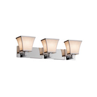 Justice Design Group Textile LED Vanity Light in Polished Chrome FAB-8923-40-WHTE-CROM-LED3-2100