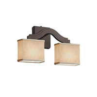 Justice Design Group Textile LED Wall Sconce in Dark Bronze FAB-8975-55-CREM-DBRZ-LED2-1400