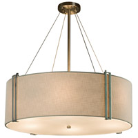 Textile 8 Light 49 inch Drum Pendant Ceiling Light