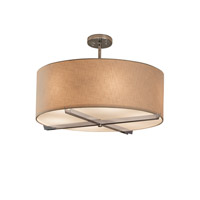 Textile 6 Light 21 inch Polished Chrome Drum Pendant Ceiling Light in Cream, Fluorescent