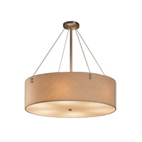 Textile 8 Light 21 inch Brushed Nickel Drum Pendant Ceiling Light in Cream, Fluorescent, Pair of Cylinders
