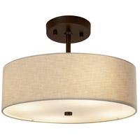 Justice Design FAB-9590-CREM-DBRZ Textile 14 inch Dark Bronze Pendant Ceiling Light Classic Family