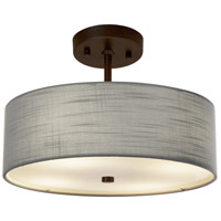 Justice Design FAB-9590-GRAY-DBRZ EVOLV 14 inch Dark Bronze Pendant Ceiling Light in Incandescent Gray Classic Family