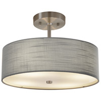 Justice Design FAB-9590-GRAY-NCKL EVOLV 14 inch Brushed Nickel Pendant Ceiling Light in Incandescent Gray Classic Family
