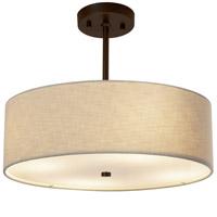 Justice Design FAB-9591-CREM-DBRZ Textile 18 inch Dark Bronze Pendant Ceiling Light Classic Family