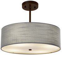 Justice Design FAB-9591-GRAY-DBRZ EVOLV 18 inch Dark Bronze Pendant Ceiling Light in Incandescent Gray Classic Family