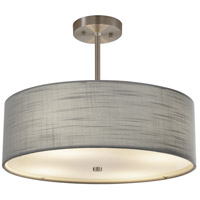 Justice Design FAB-9591-GRAY-NCKL EVOLV 18 inch Brushed Nickel Pendant Ceiling Light in Incandescent Gray Classic Family