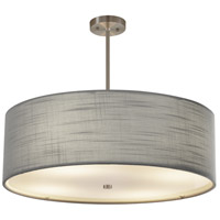 Justice Design FAB-9592-GRAY-NCKL EVOLV 24 inch Brushed Nickel Pendant Ceiling Light in Incandescent Gray Classic Family