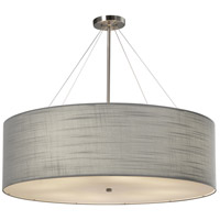 Justice Design FAB-9594-GRAY-NCKL EVOLV 36 inch Brushed Nickel Pendant Ceiling Light in Incandescent Gray Classic Family