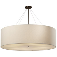 Justice Design FAB-9597-CREM-DBRZ Textile 48 inch Dark Bronze Pendant Ceiling Light Classic Family