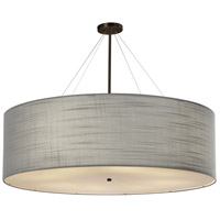 Justice Design FAB-9597-GRAY-DBRZ EVOLV 48 inch Dark Bronze Pendant Ceiling Light in Incandescent Gray Classic Family