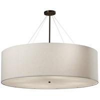 Justice Design FAB-9597-WHTE-DBRZ Textile 48 inch Dark Bronze Pendant Ceiling Light Classic Family