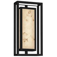 Justice Design FAL-7622W-MBLK LumenAria Bayview LED 15 inch Matte Black Outdoor Wall Sconce