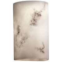 LumenAria 2 Light 8 inch Faux Alabaster Wall Sconce Wall Light