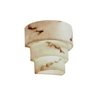 LumenAria 2 Light 11 inch Faux Alabaster Wall Sconce Wall Light