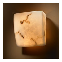 LumenAria 2 Light 8 inch Faux Alabaster ADA Wall Sconce Wall Light