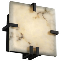 Justice Design LumenAria Clips Square Wall Sconce (Ada) in Matte Black FAL-5550-MBLK