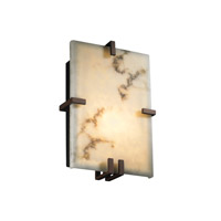 Justice Design LumenAria Clips Rectangle Wall Sconce (Ada) in Dark Bronze FAL-5551-DBRZ