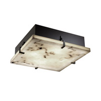 LumenAria 4 Light 17 inch Matte Black Flush-Mount Ceiling Light