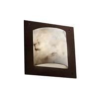 Justice Design LumenAria Framed Square 4-Sided Wall Sconce (Ada) in Dark Bronze FAL-5561-DBRZ
