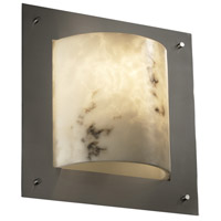 Justice Design LumenAria Framed Square 4-Sided Wall Sconce (Ada) in Brushed Nickel FAL-5561-NCKL