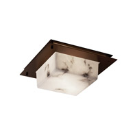 Justice Design Signature 2 Light Flush Mount in Dark Bronze FAL-5565-DBRZ