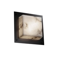 Justice Design FAL-5565-MBLK Signature 2 Light 12 inch Matte Black Wall Sconce Wall Light in Incandescent thumb