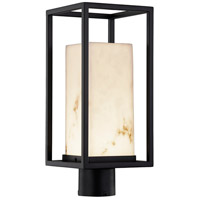 Justice Design FAL-7513W-MBLK LumenAria LED 17 inch Matte Black Outdoor Post Light Rectangle