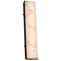 Justice Design FAL-7566W-MBLK Lumenaria LED 8 inch Matte Black ADA Wall Sconce Wall Light