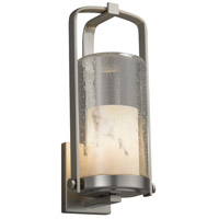 Justice Design FAL-7584W-10-NCKL-LED1-700 Lumenaria LED 17 inch Outdoor Wall Sconce in 700 Lm LED Brushed Nickel