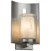 Justice Design FAL-7591W-10-NCKL-LED1-700 Lumenaria LED 13 inch Outdoor Wall Sconce in 700 Lm LED Brushed Nickel