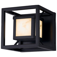 Justice Design FAL-7620W-MBLK LumenAria LED 7 inch Matte Black Outdoor Wall Sconce, Square