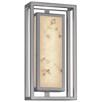 Justice Design FAL-7622W-NCKL LumenAria Bayview LED 15 inch Brushed Nickel Outdoor Wall Sconce