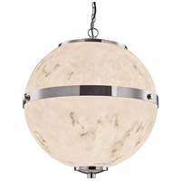 Justice Design Polished Chrome LumenAria Chandeliers