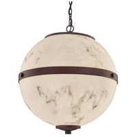 Dark Bronze Faux Alabaster Resin Chandeliers
